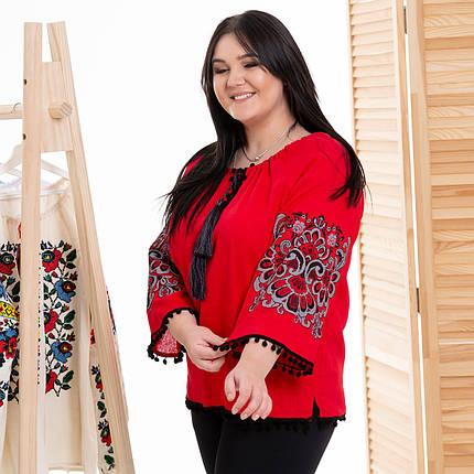 Жіноча блуза з вишивкой Етностиль червона, фото 2