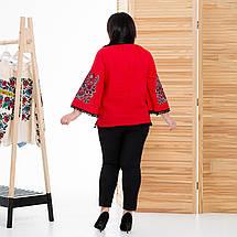 Жіноча блуза з вишивкой Етностиль червона, фото 3