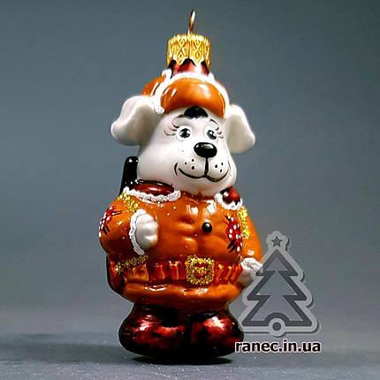 Стеклянная елочная игрушка Собака Охотник 301/с, фото 2