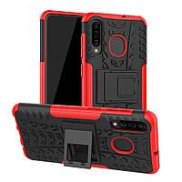 Чехол Armor для Samsung Galaxy A30S / A307 бампер противоударный Red
