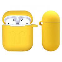 Силиконовый противоударный чехол - Airpods Apple. Желтый