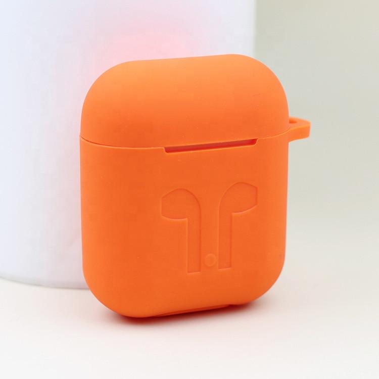 Силиконовый противоударный чехол - Airpods Apple. Оранжевый