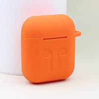 Силиконовый противоударный чехол - Airpods Apple. Оранжевый, фото 1