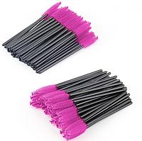 Щеточки для расчесывания нарощенных ресниц розовые 50 шт
