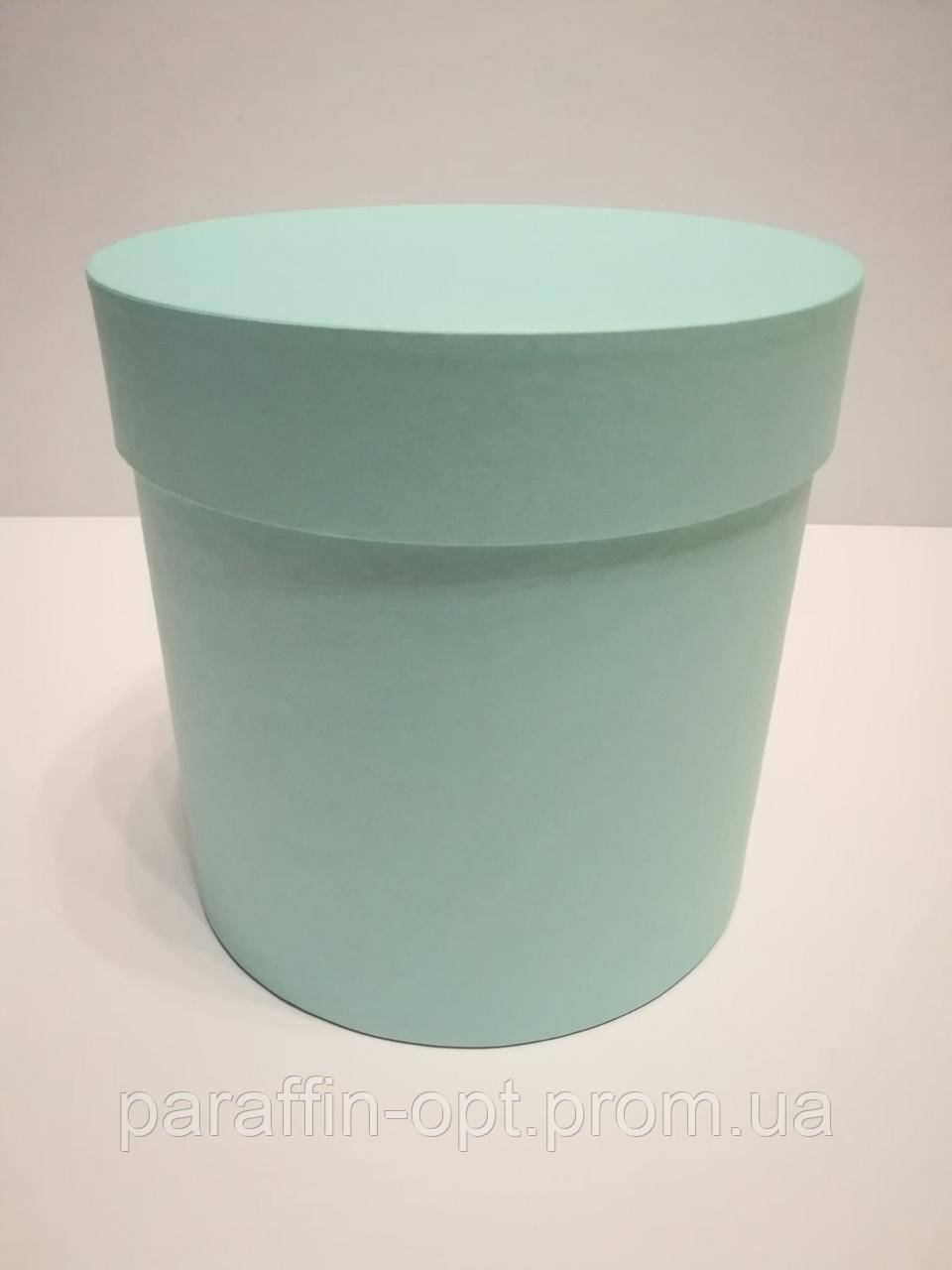 Подарочная коробка в форме шляпы цвет-светло бирюзовый