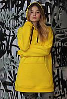 Толстовка женская, цвет: желтый, размер: M, S