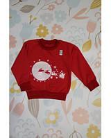 Джемпер детский Новогодний Санта красный