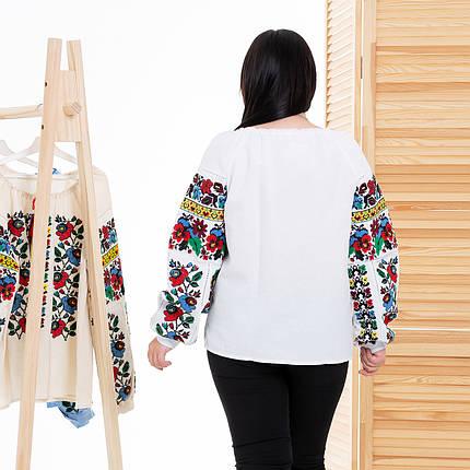 Жіноча блуза вишиванка Мальва біла, фото 2