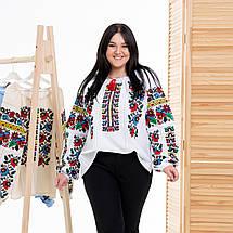 Жіноча блуза вишиванка Мальва біла, фото 3