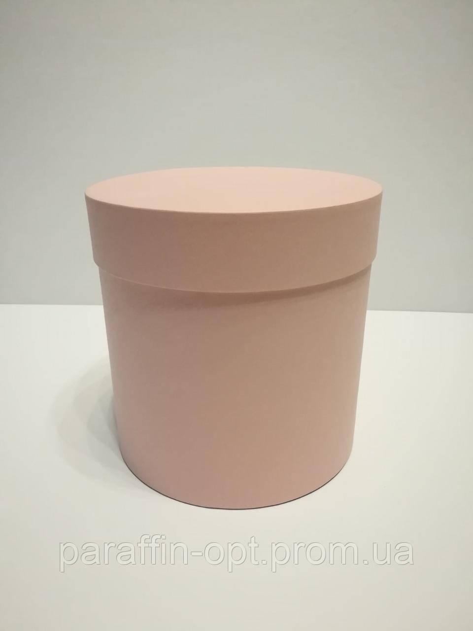 Подарочная коробка в форме шляпы цвет-пудровый