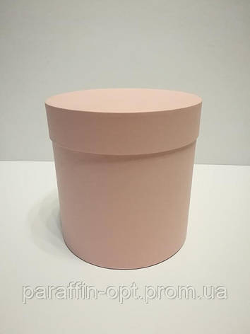 Подарочная коробка в форме шляпы цвет-пудровый, фото 2