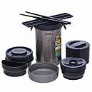 Набор для ланча ZOJIRUSHI SL-NC09ST (4 контейнера + палочки), стальной, фото 2