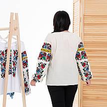 Жіноча блуза вишиванка Мальва бежева, фото 3