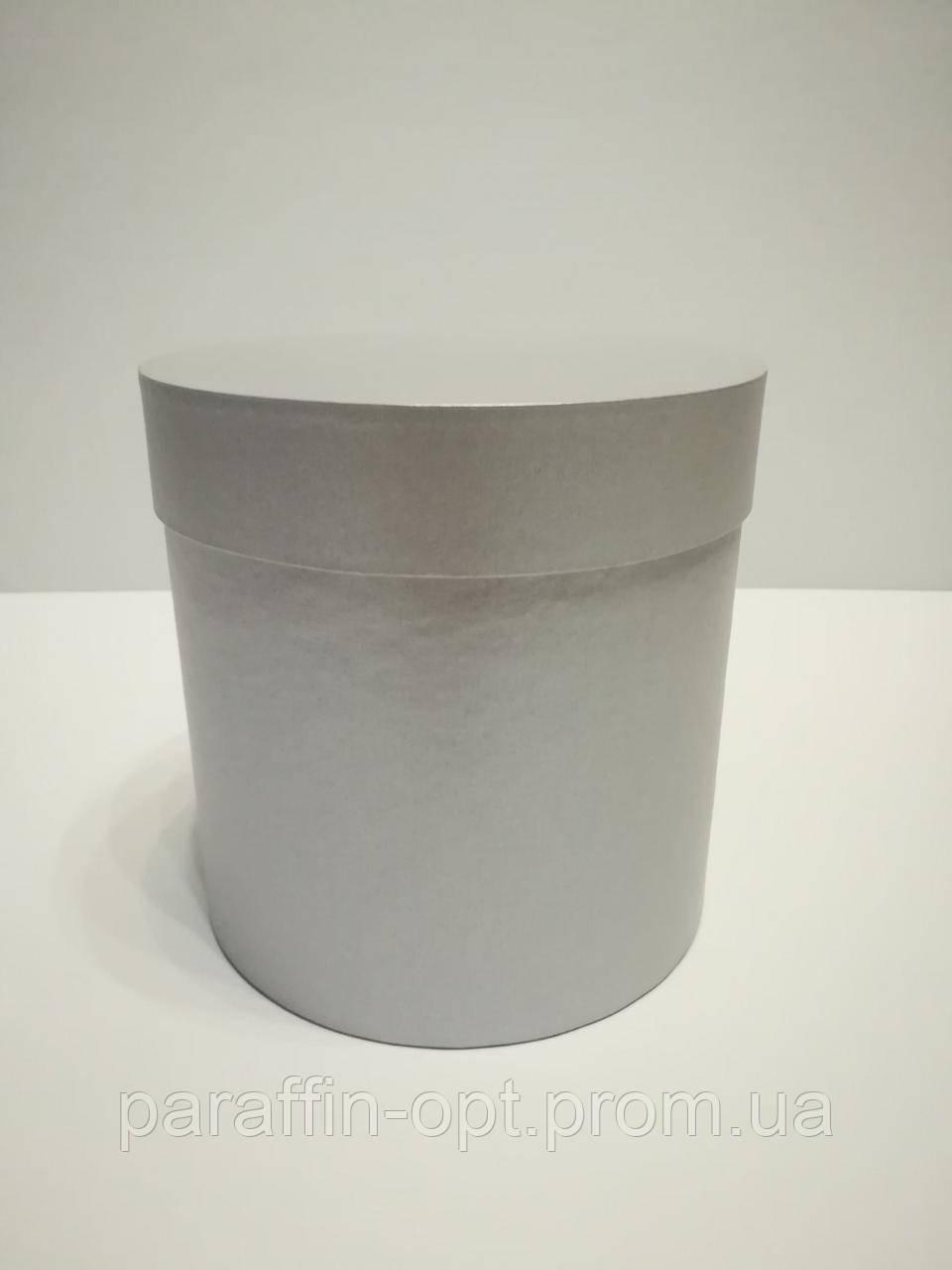 Подарочная коробка в форме шляпы цвет-серебристый