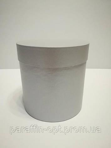 Подарочная коробка в форме шляпы цвет-серебристый, фото 2