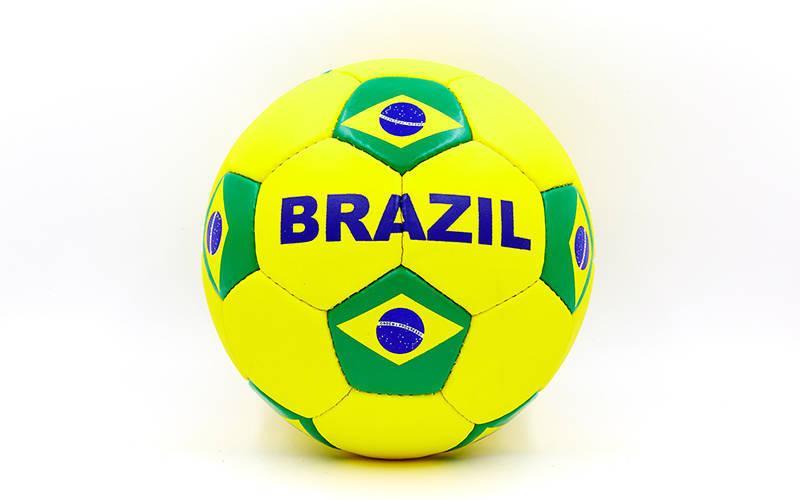 Мяч футбольный №5 Гриппи 5сл. BRAZIL FB-0047-3686