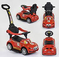 Детская Машинка толокар с родительской ручкой JOY 99-269 Т, ЗВУК, красная, фото 1