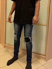 Гетто джинсы рваные со змейкой Ghetto