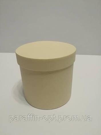 Подарочная коробка в форме шляпы цвет- бледно желтая, фото 2