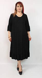 Турецкое вечернее женское платье с люрексом больших размеров 52-66