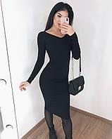 Базовое платье / рубчик / Украина 33-1043, фото 1
