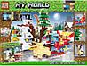Конструктор My World Новый Год 63010, реплика LEGO Minecraft