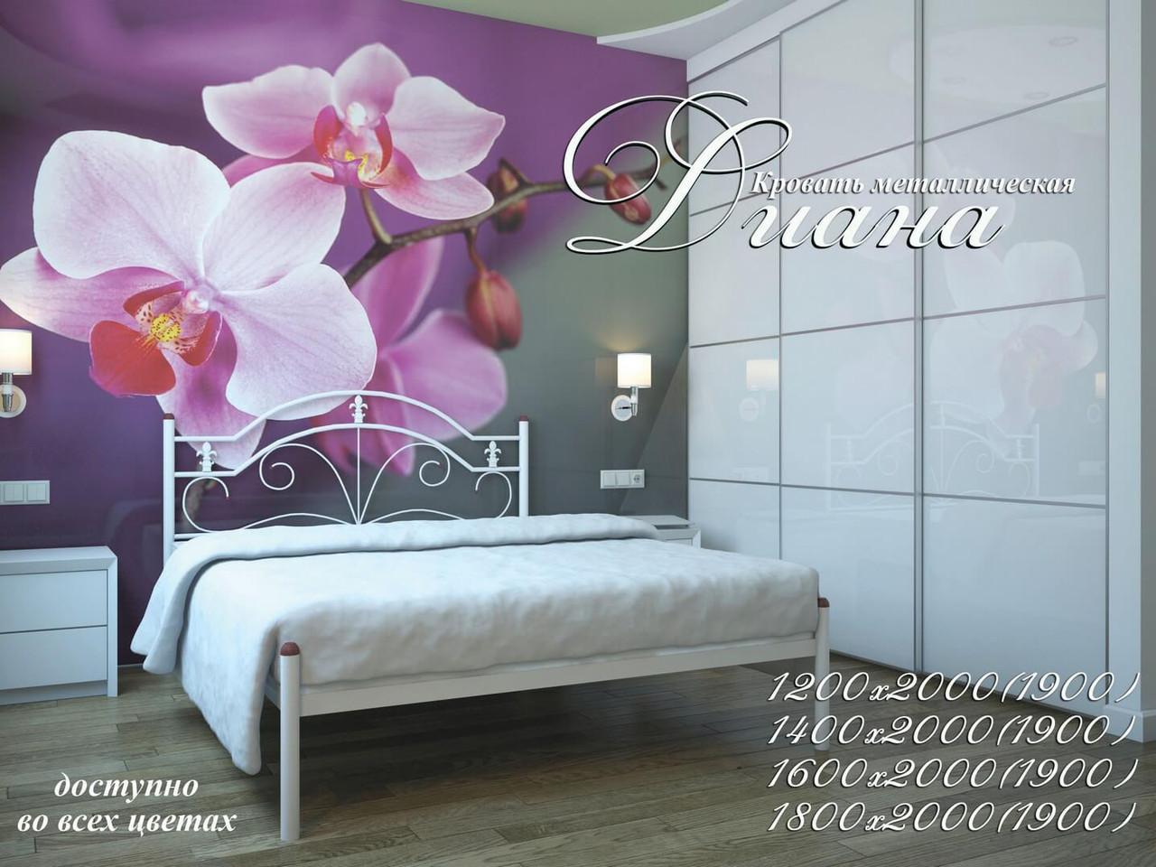 Металлическая кровать Диана. ТМ Металл-Дизайн