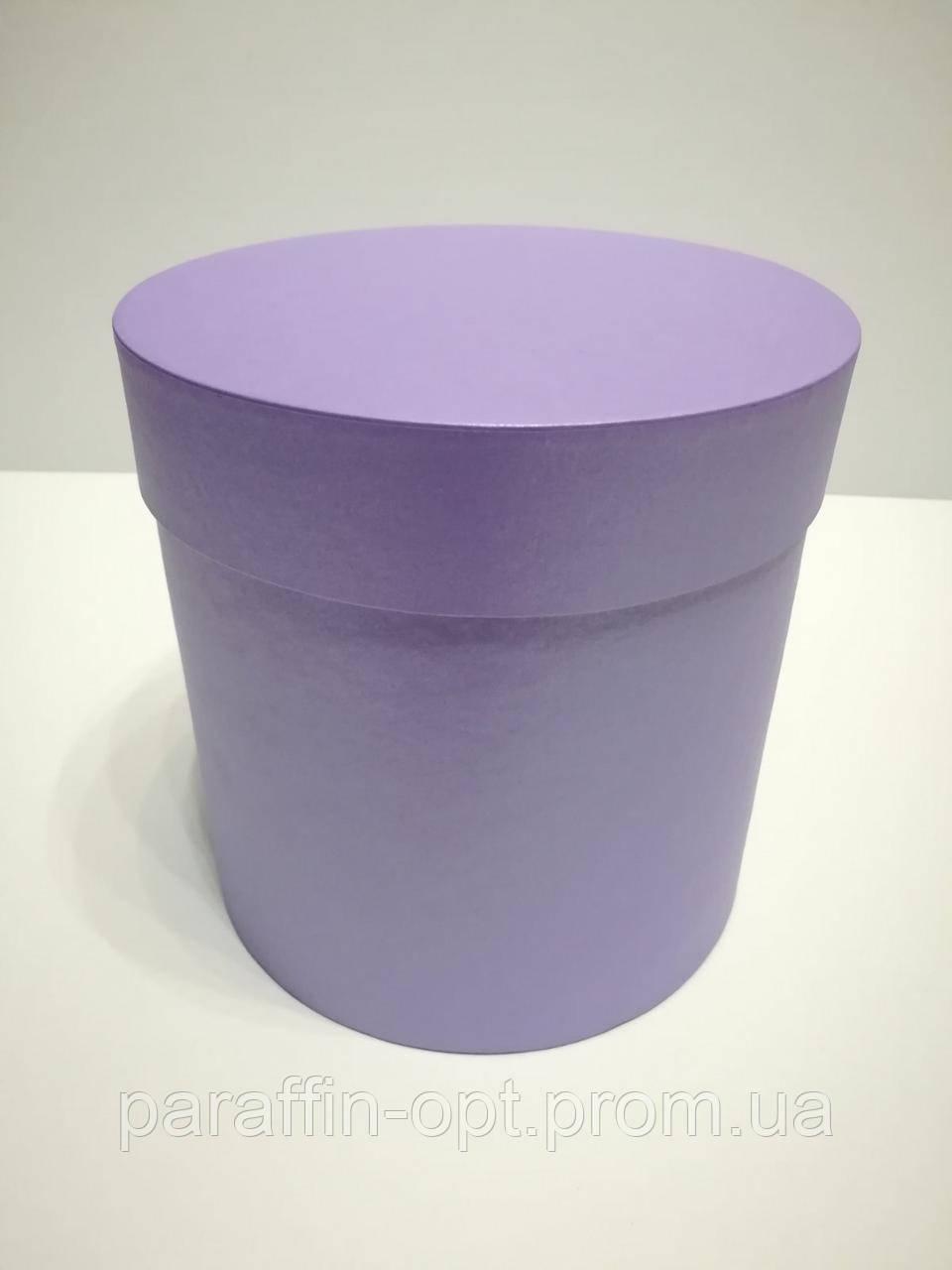 Подарочная коробка в форме шляпы цвет-фиолетовый