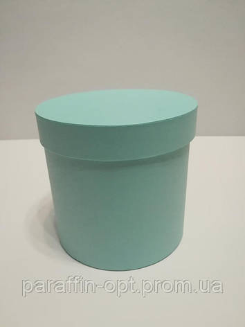 Подарочная коробка в форме шляпы цвет-светло бирюзовый, фото 2