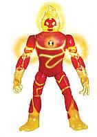 Коллекционная фигурка Человек огонь Бен 10 свет, звук / Up Heatblast Deluxe Ben 10