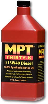 MPT ® 15W-40 Diesel Thirty-K 100% Full Synthetic Motor Oil