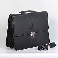 Мужская кожанная сумка через плече - Код 7833 - (черная)
