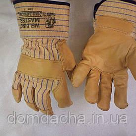 Перчатки рабочие комбинированные ХБ/кожа