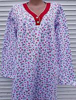 Трикотажная ночная рубашка две пуговки, фото 1