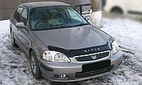 Мухобойка +на капот  HONDA Civic с 1995-2000 г.в.(европа) (Хонда Сивик) Vip Tuning