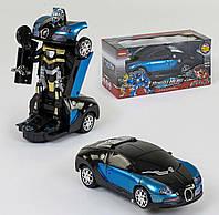 Машинка-трансформер (свет, звук), игрушечная машинка.