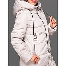Пуховик женский зимний с капюшоном, без меха 151 | 44-54р., фото 3