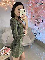 Вечернее  платье ассиметрия трикотаж люрекс 4 цвета