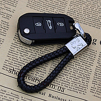 Стильный кожаный Брелок с логотипом Peugeot