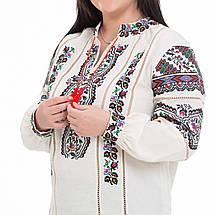 Жіноча вишита блуза Казка бежева, фото 3
