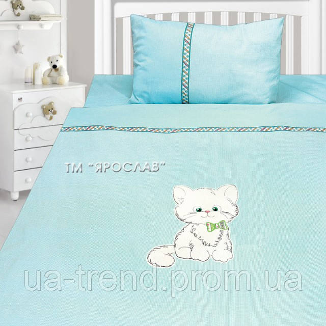 Детское постельное белье с вышивкой 147х112 100% хлопок Ярослав