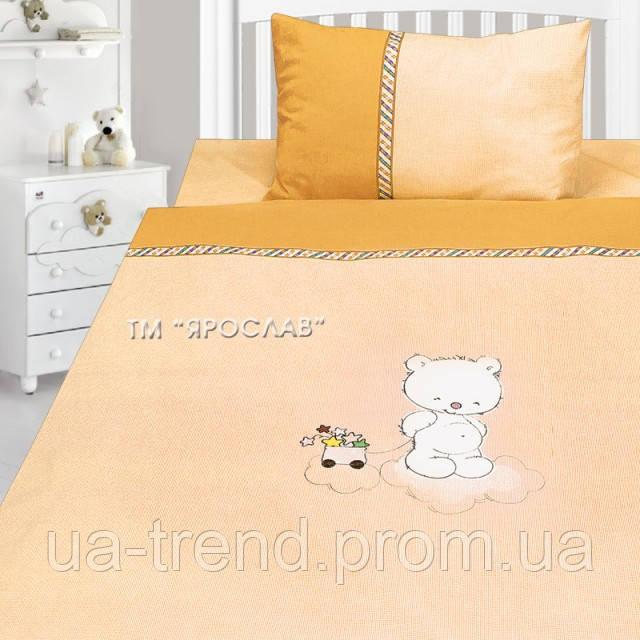 Детское постельное белье с вышивкой 147х112 100% хлопок