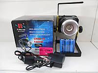 Переносной фонарь - прожектор Bailong Police BL-2144-44-T6, от аккумулятора 18650/сети, 1000лм, Zoom, прожектор, Топ-фонарик