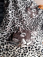 """Махровое полуторное покрывало """"East Comfort"""" леопардовое"""