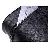 Рюкзак міський жіночий шкіряний. Рюкзак з натуральної шкіри (чорний), фото 9