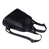 Рюкзак міський жіночий шкіряний. Рюкзак з натуральної шкіри (чорний), фото 7