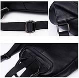 Рюкзак міський жіночий шкіряний. Рюкзак з натуральної шкіри (чорний), фото 8