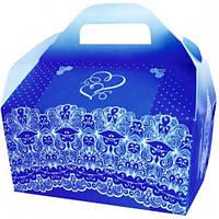 Коробка для каравая (синяя)