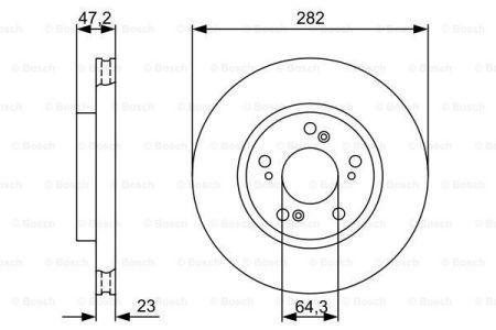 Тормозной диск HONDA STEPWGN / HONDA CIVIC VIII седан (FD, FA) / HONDA STREAM 1999-2011 г.