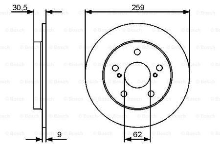 Гальмівний диск седан TOYOTA COROLLA (_E15_) / TOYOTA AURIS (_E15_) 2006-2018 р.